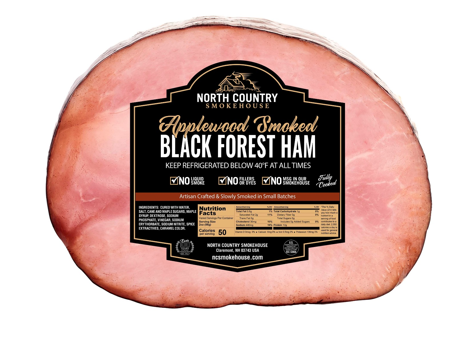 Original Boneless Black Forest Half Ham - 1, 4-5 lb.