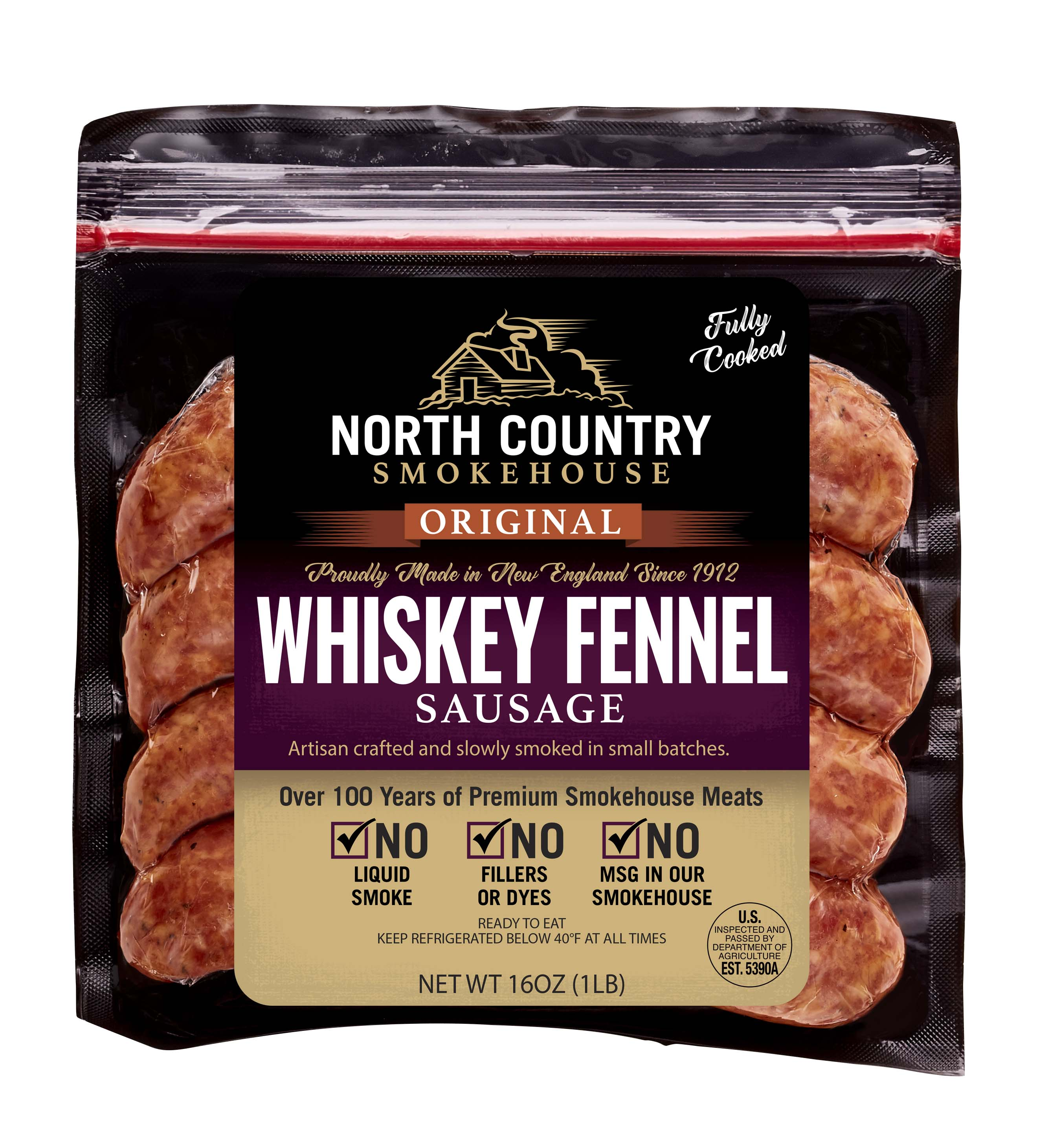 Original Whiskey Fennel Sausage - 3, 1 lb. packages