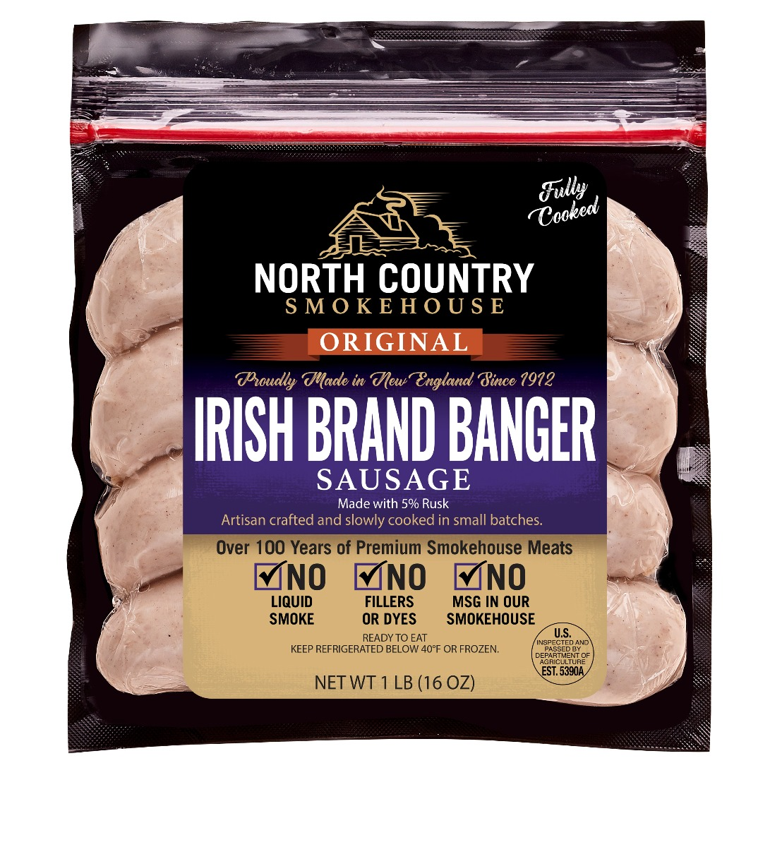 Original Irish Style Banger Sausages - 3, 1 lb. packages