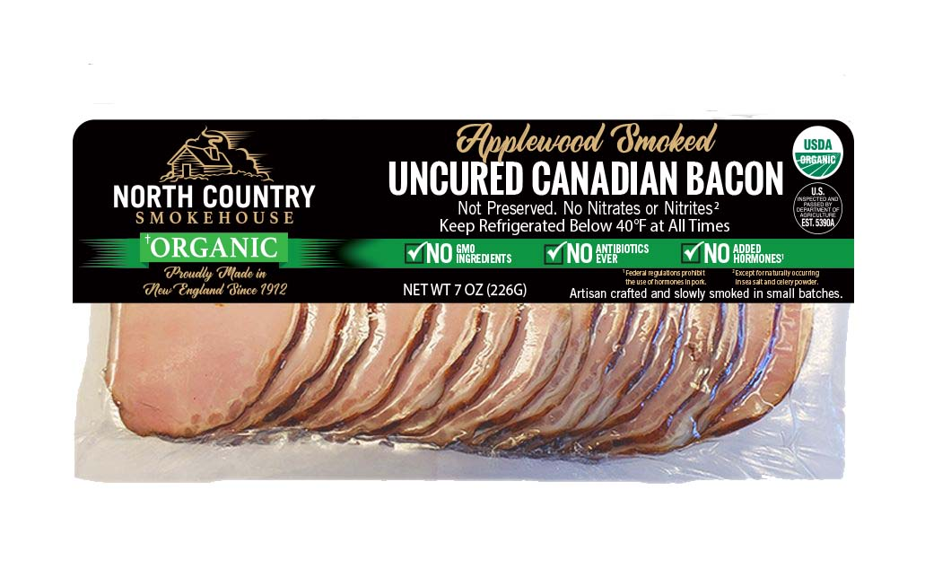 Organic Canadian Bacon- 2, 7oz. packages