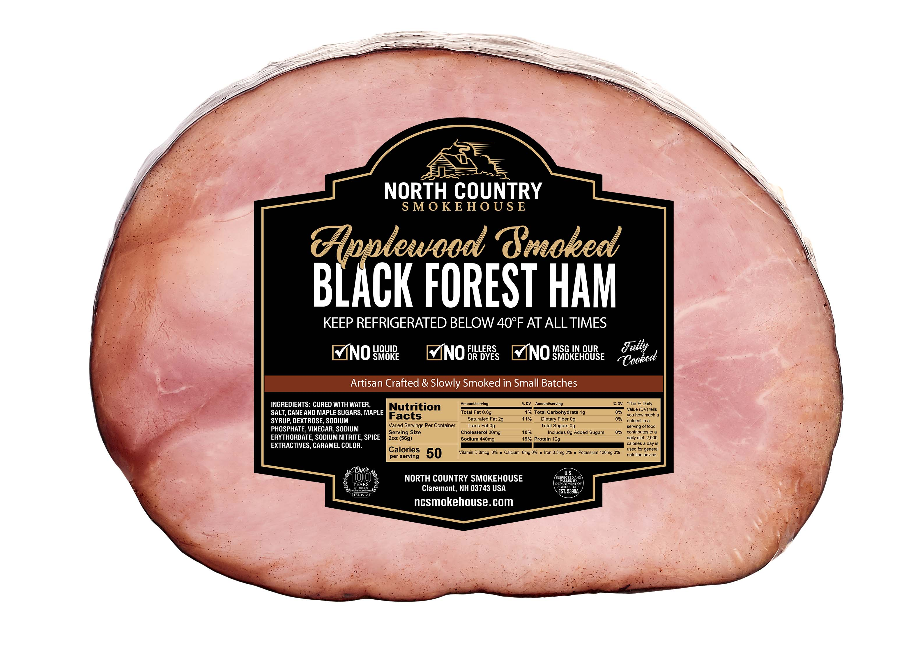 Original Boneless Black Forest Half Ham - 1, 4-5 lb. package