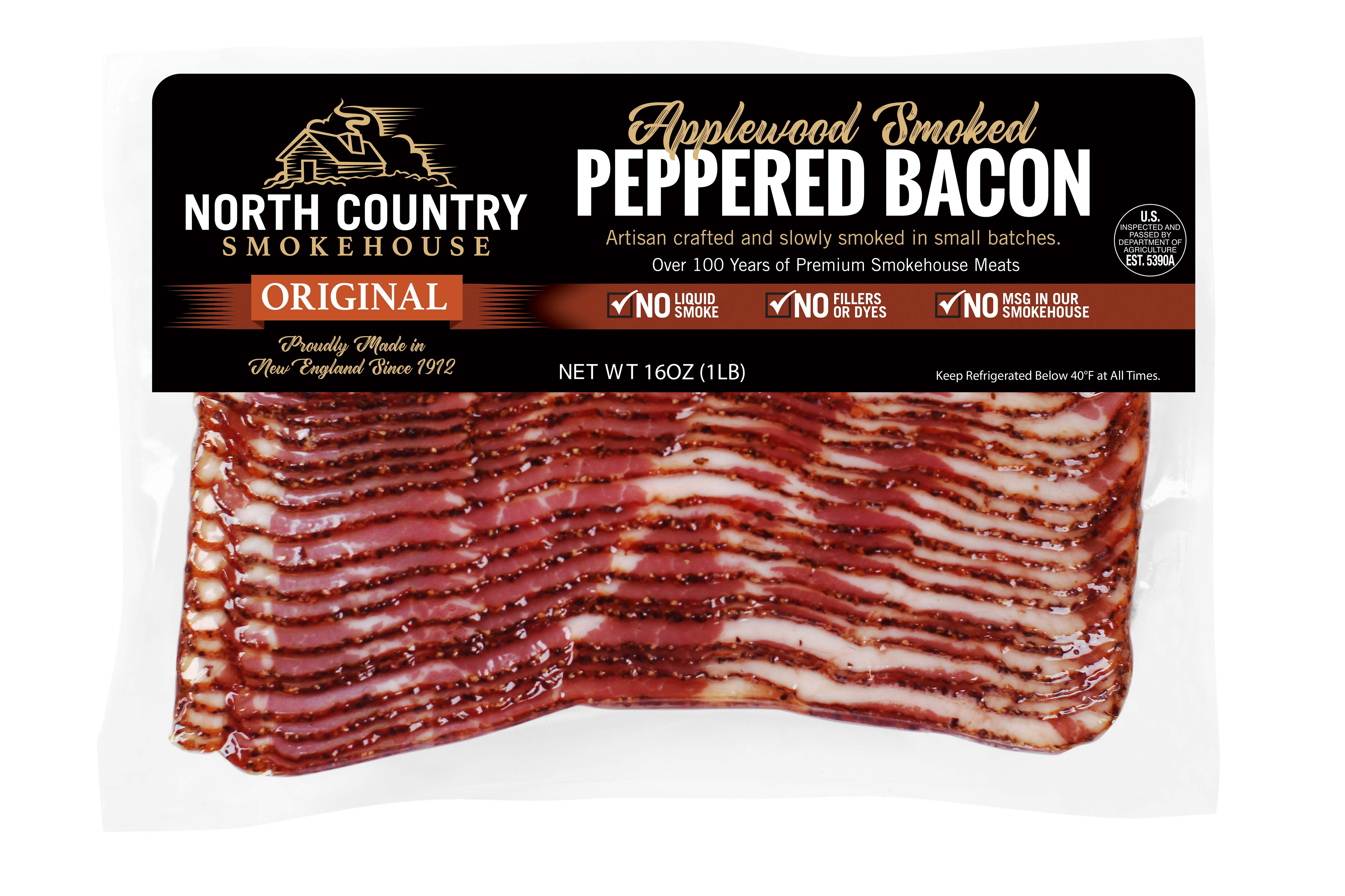 Original Applewood Smoked Peppered Bacon - 2, 1 lb. packages