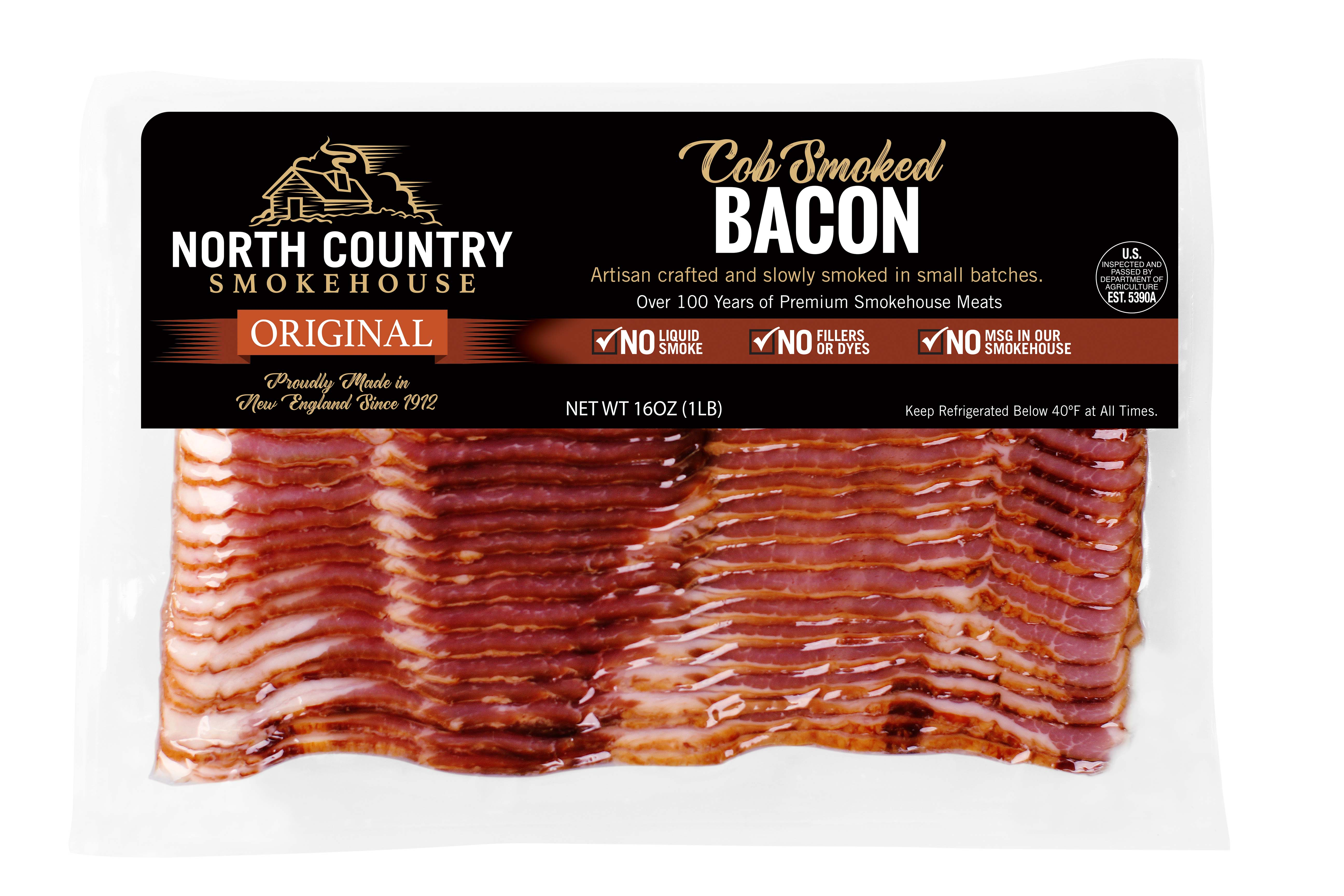 Original Cob Smoked Bacon - 2, 1 lb. packages