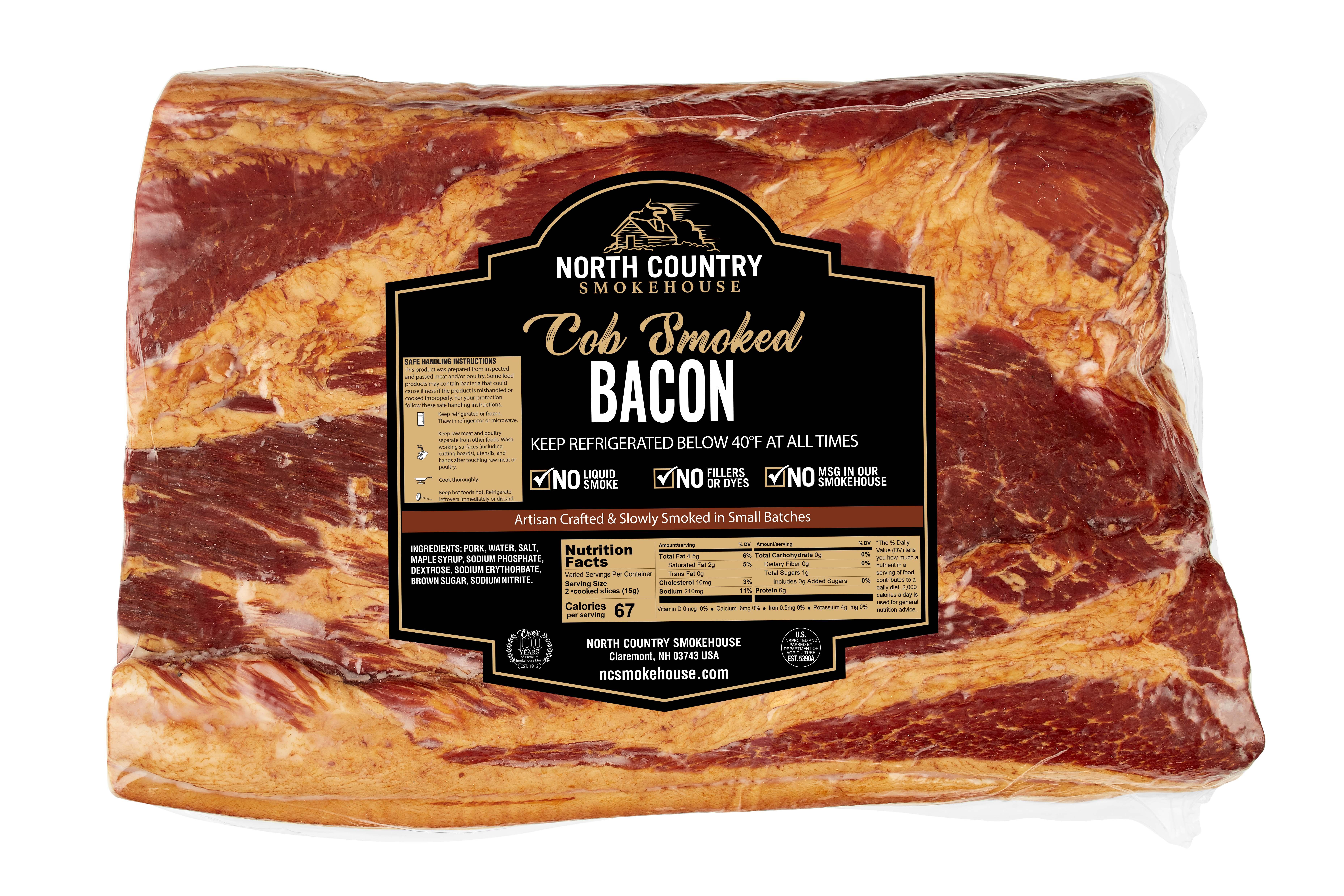 Original Cob Smoked Slab Bacon - 1, 5-7 lb. package