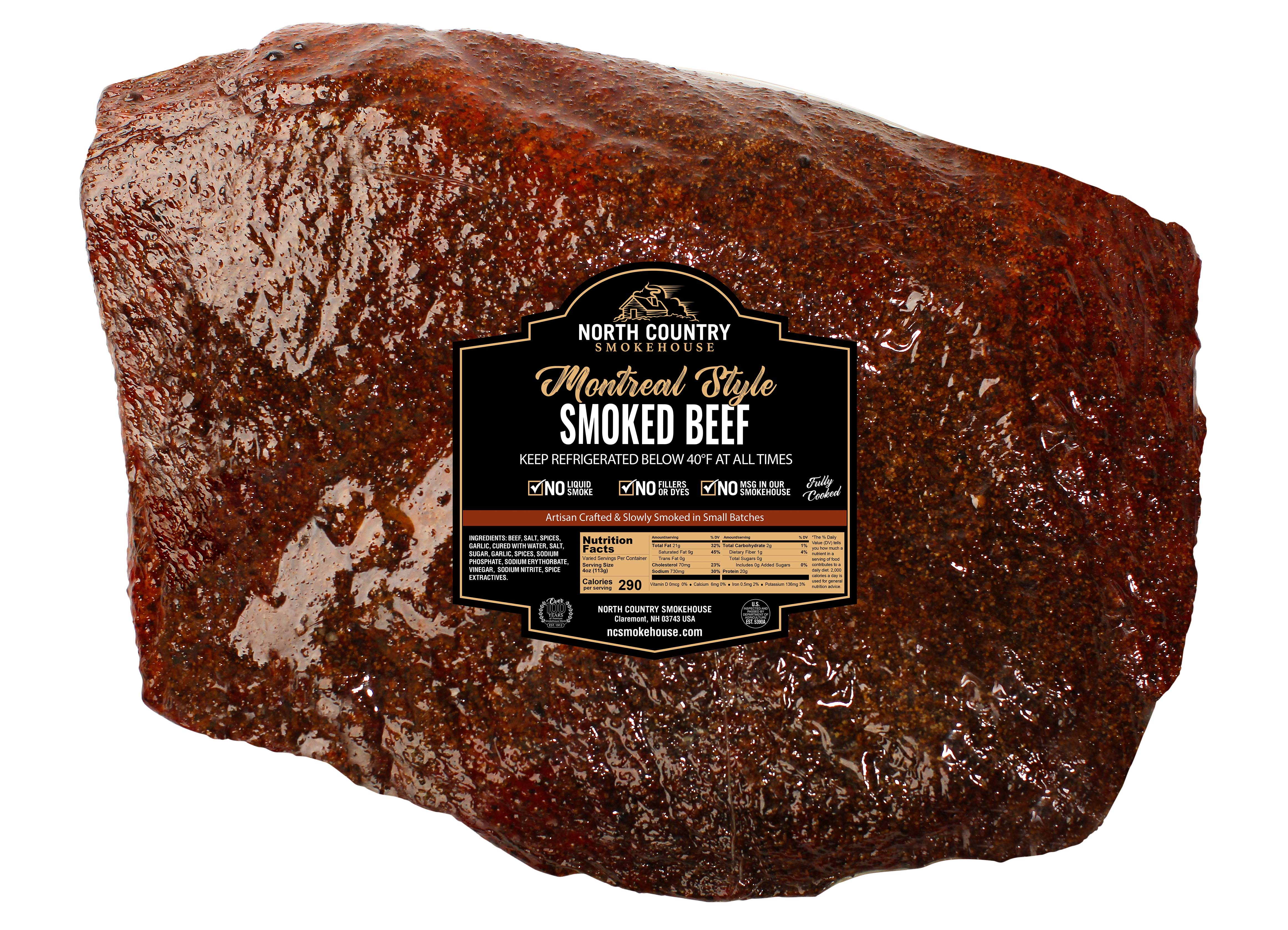 Original Montreal Smoked Beef Brisket - 2, 12 oz. packages
