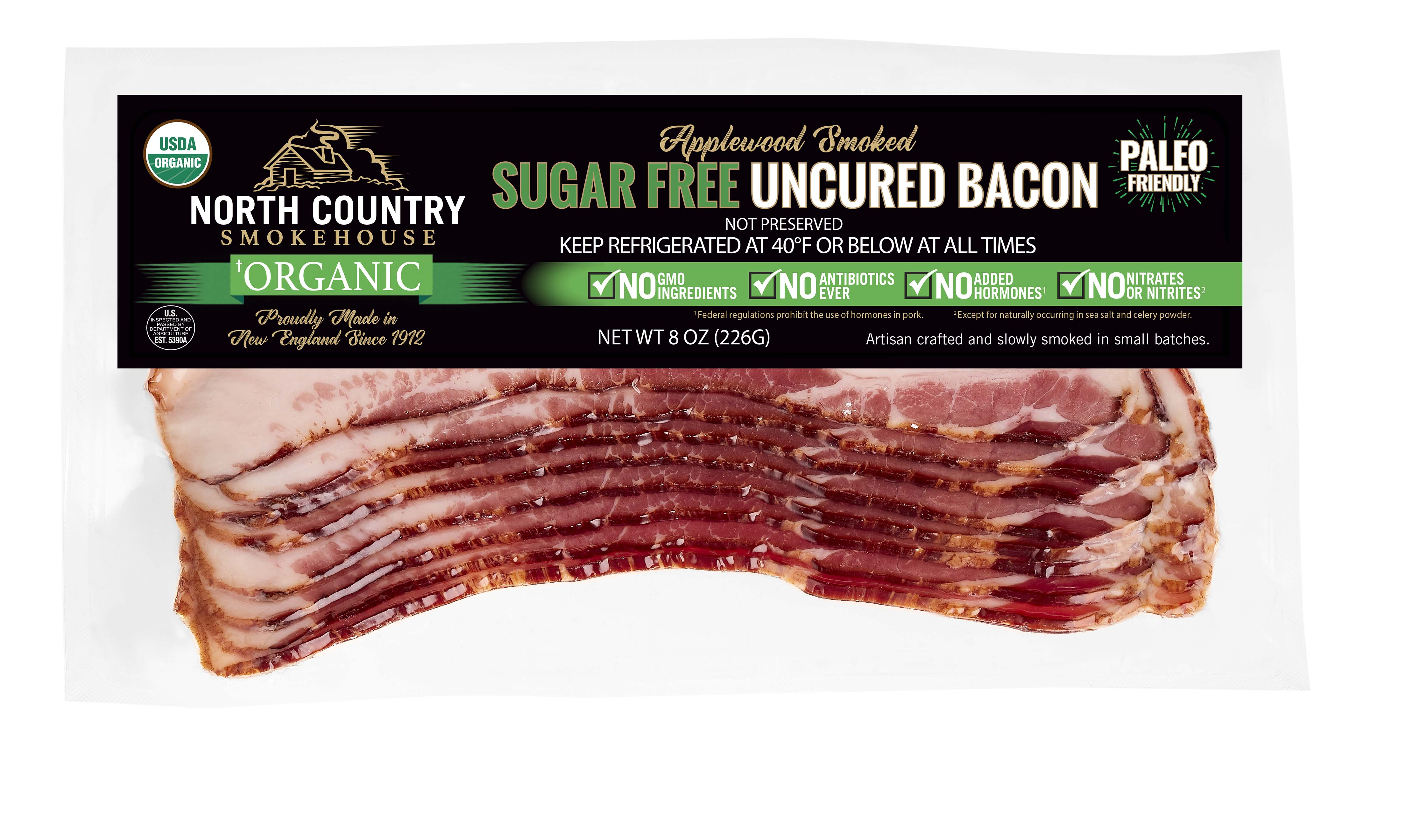 Organic Applewood Smoked Sugar-Free Bacon- 2, 8oz. packages
