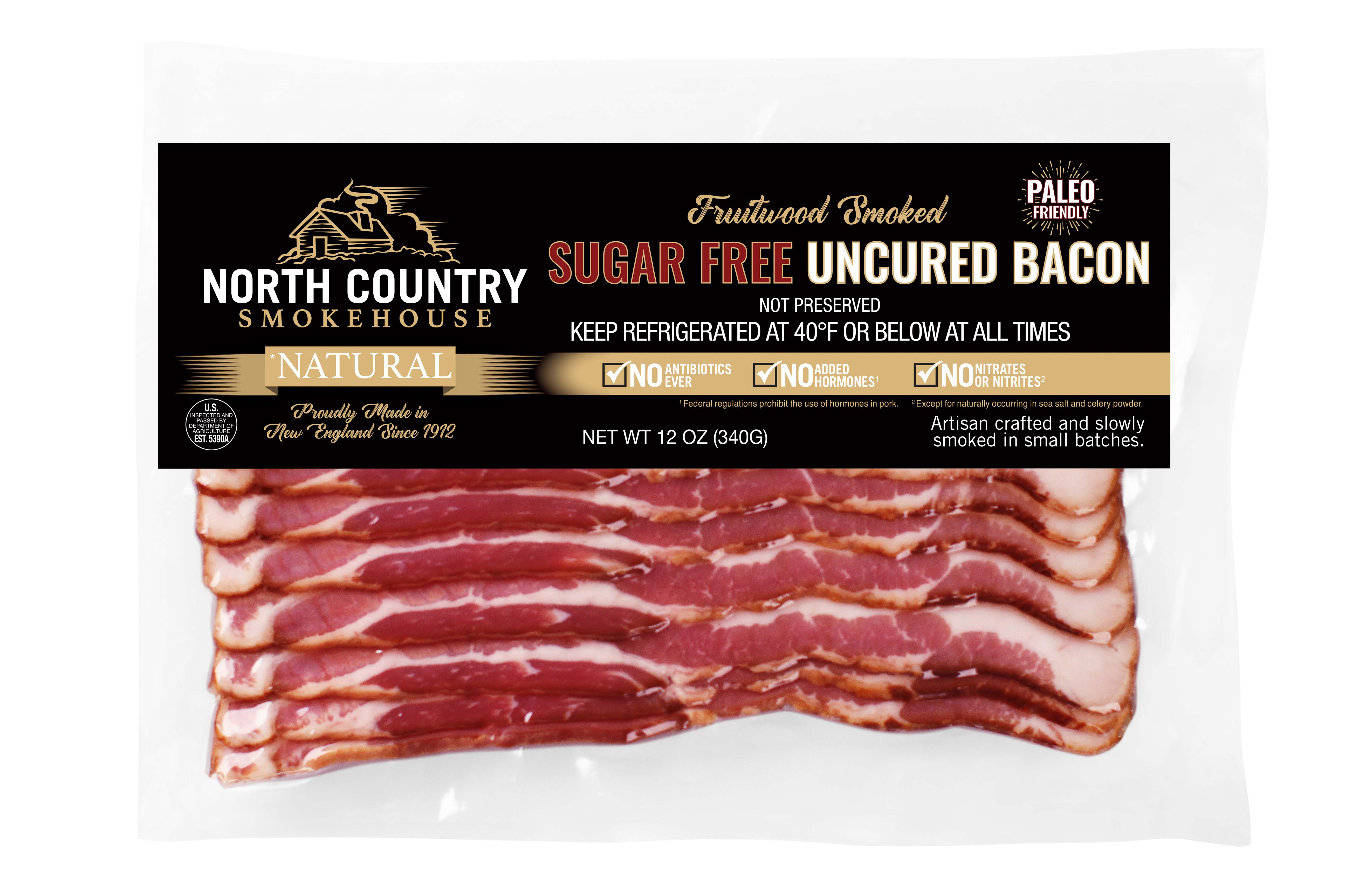 Natural Sugar Free Fruitwood Smoked Bacon - 2, 12oz. packages