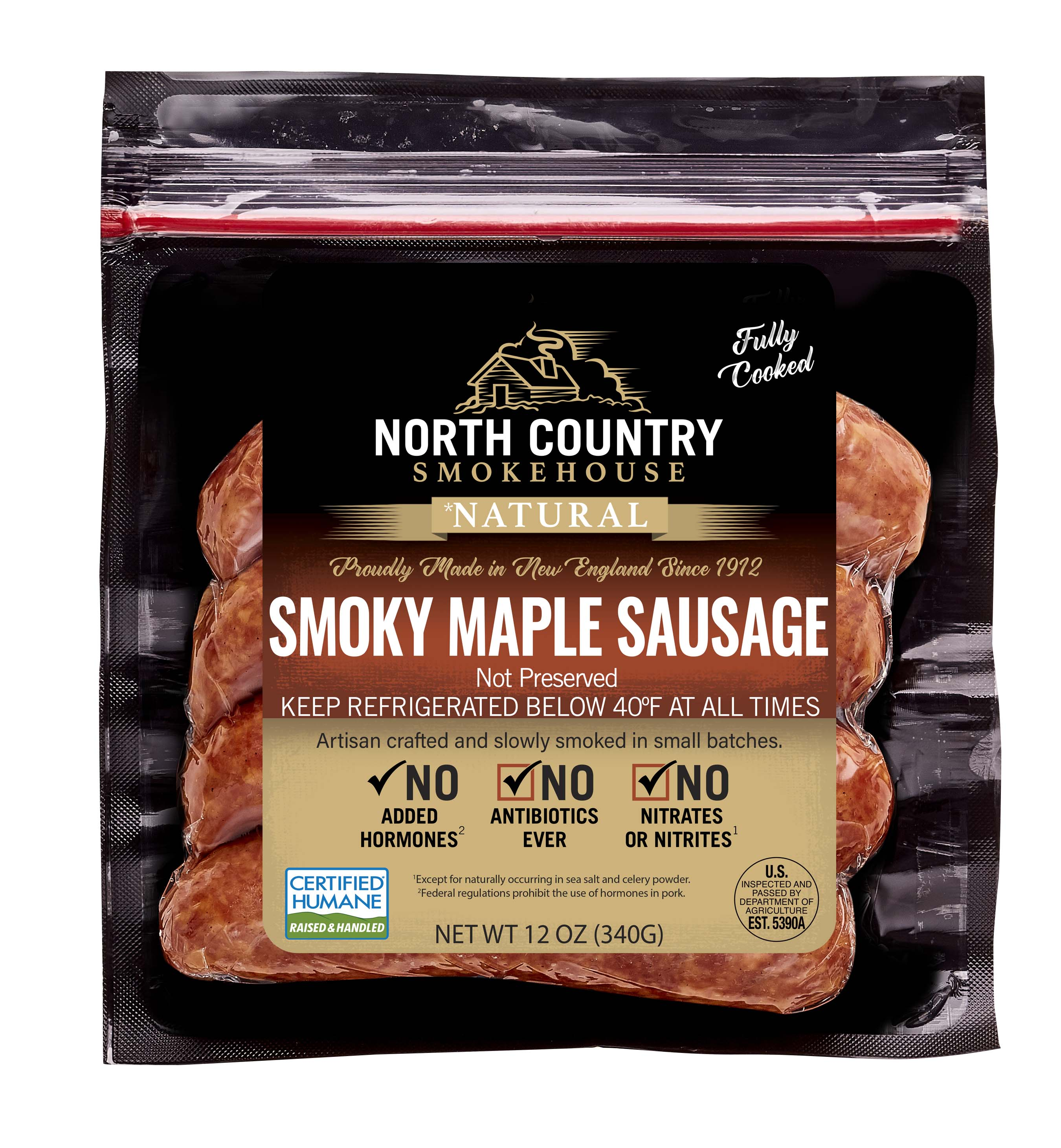 Natural Smoky Maple Sausage - 3, 12 oz. packages