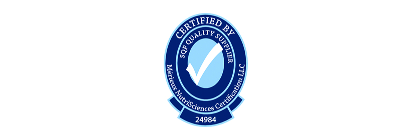 A Proud Recipient of the SQF Quality Shield