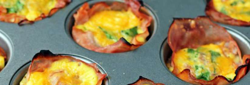 Smoked Ham & Swiss Quiche Cups