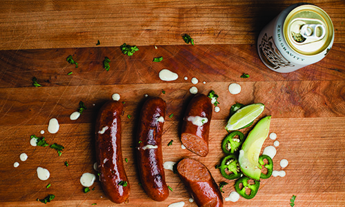 Lost Nation Craft Beer and Whiskey Fennel Sausage
